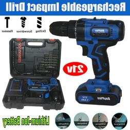 Electric Cordless Impact Workshop Tool Drill Set Driver Scre