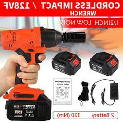 Electric Cordless Impact Wrench Torque Drill Driver Power To