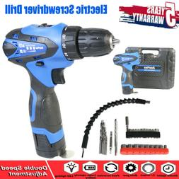 Electric Screwdriver Drill Power Tools Cordless DUAL SPEED C