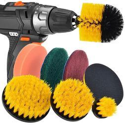 <font><b>Drill</b></font> Brush Scrub Pads 8 Piece Power Scr