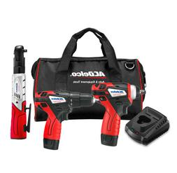 "ACDelco G12 3-Tool Kit - 3/8"" DRILL DRIVER & IMPACT WRENCH &"
