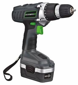 "Genesis GCD18BK 3/8"" Inch 18 Volt Cordless Variable Speed Dr"