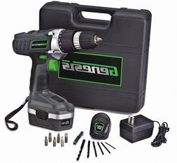 Battery Operated Drill Set With Light Cordless Driver Screwd
