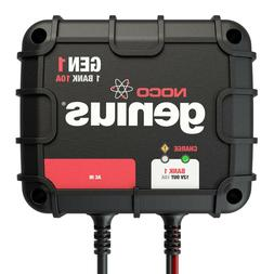 NOCO Genius GEN1 10 Amp 1-Bank Waterproof Smart On-Board Bat