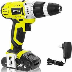 CACOOP Green Cordless 20V Lithium-ion Drill Driver Set ,1