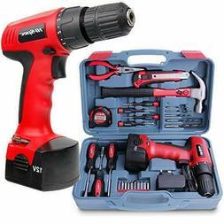 Hi-Spec 26 Piece Power Tools 12V-Cordless Drill Driver -Vari