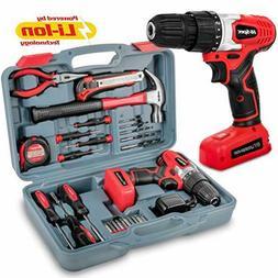 Hi-Spec 26 Piece Household Tool Kit Including 8V Cordless Dr