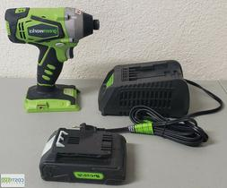 Greenworks ID24B00 Cordless Drill/Impact Driver + Charger &