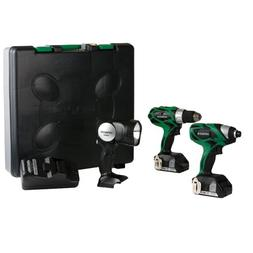 Hitachi KC18DHL 18-Volt Lithium-Ion 3-Tool Combo Kit