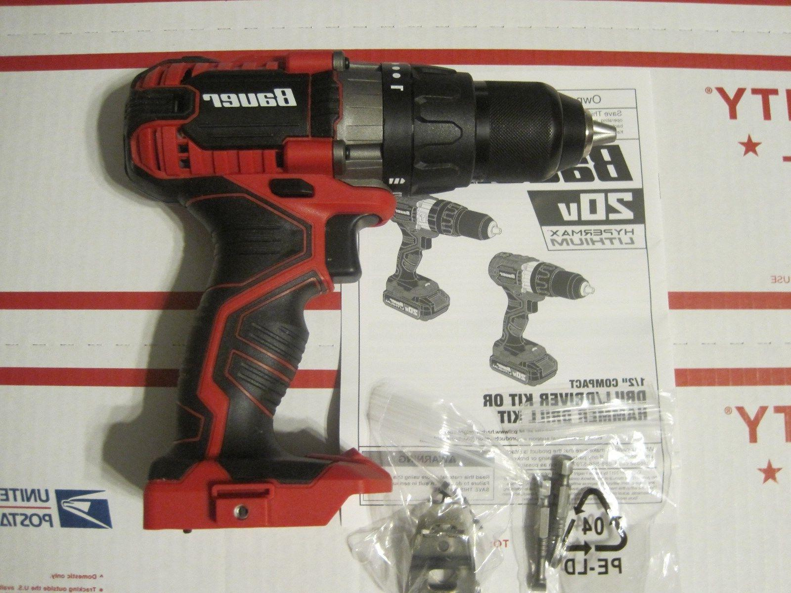 "BAUER 1/2"" 20 Volt Cordless Drill 1791C-B1 - Bare Tool -NEW"