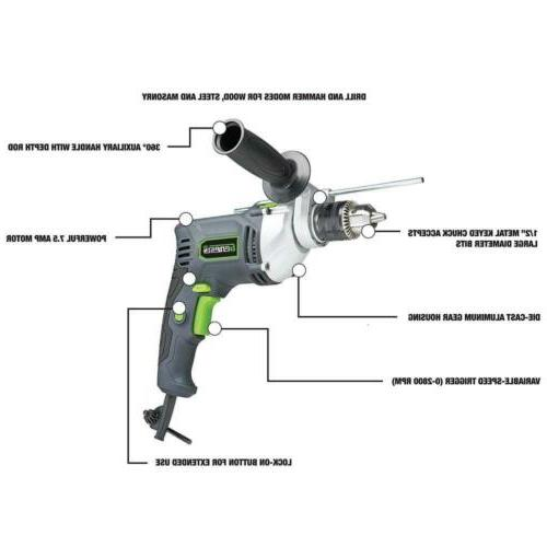 "Genesis 1/2"" 7.5 Variable Speed Drill chuck Key,..."