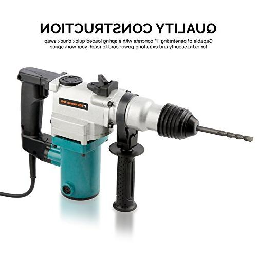 Hiltex Rotary Hammer Drill, 4.7 Amp Chisels, Bits   900 BPM