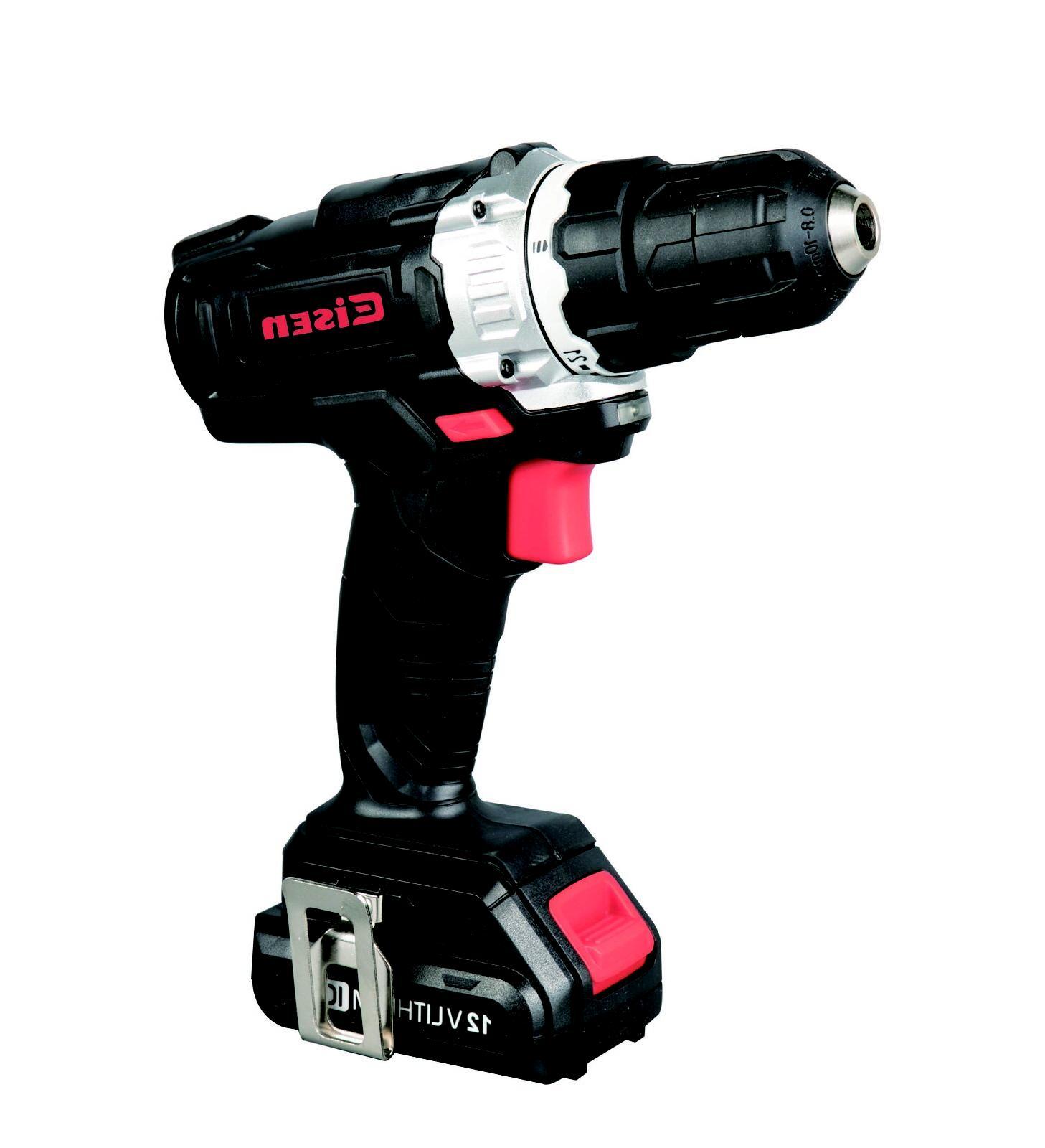 12V Drill, 21+1 Drill With LED 50pcs Tools