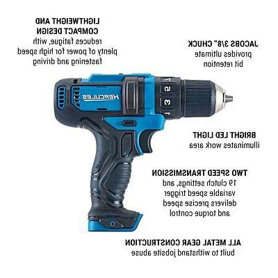 """12 V Drill Driver 3/8"""" Chuck Compact Speed Only"""