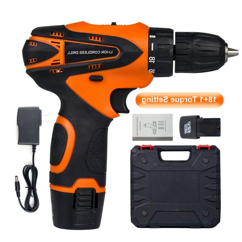 12 v drill 2 speed electric cordless