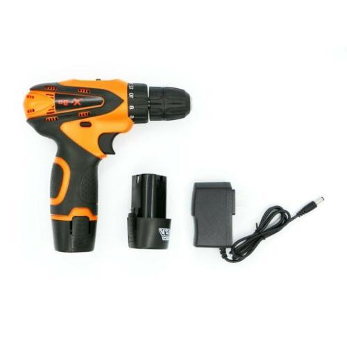 12-Volt drill 2 Electric Drill/Driver + 2
