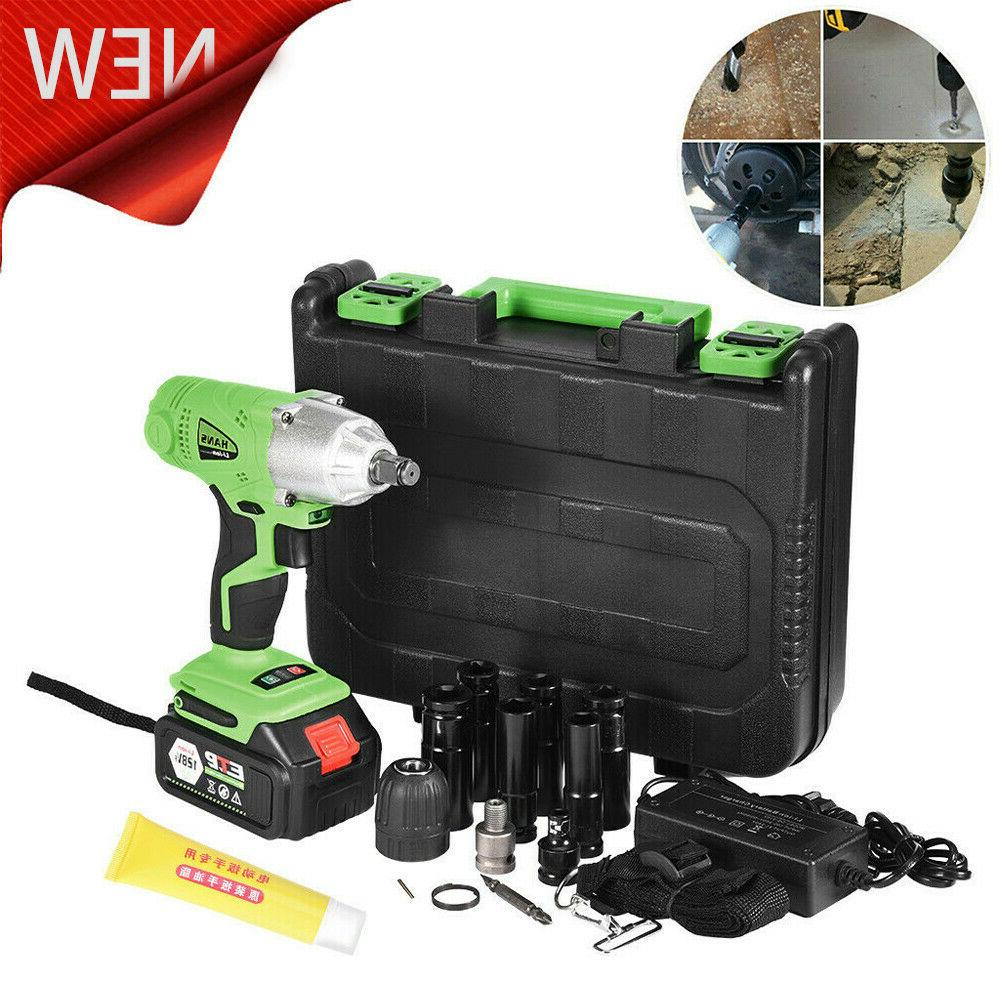 128VF Electric Cordless Wrench LED Drill 16800mAh