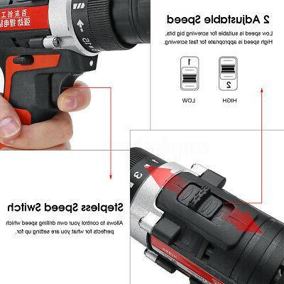 12V Speed Drill Driver Screwdriver Tool Kit Li-ion