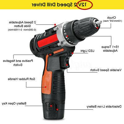 12V Drill Tool Kit Detachable Battery