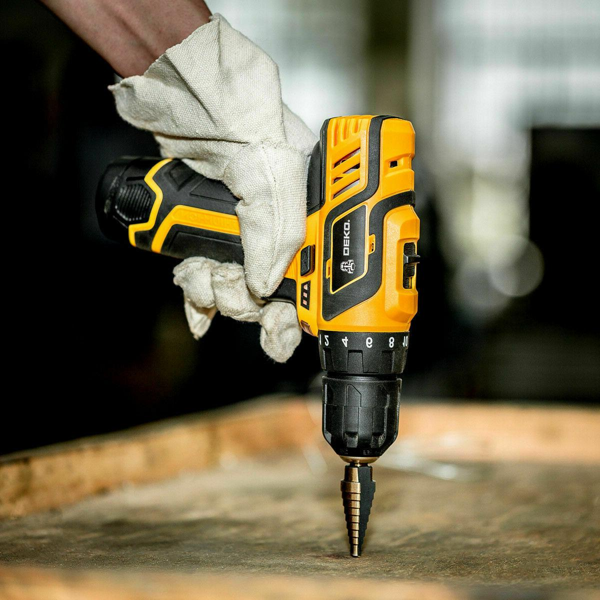 DEKO 12V Lithium-Ion Battery 2-Speed Drill Electric