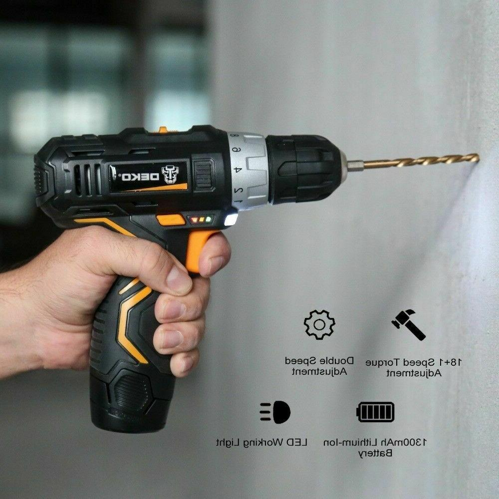 DEKO 2-Speed Lithium-Ion Battery Drill Drill