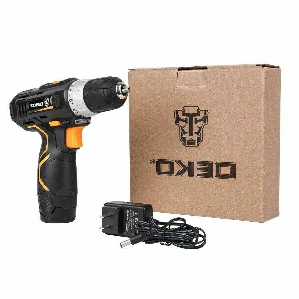 DEKO 12V 32N.m Lithium-Ion Battery Electric Drill Mini