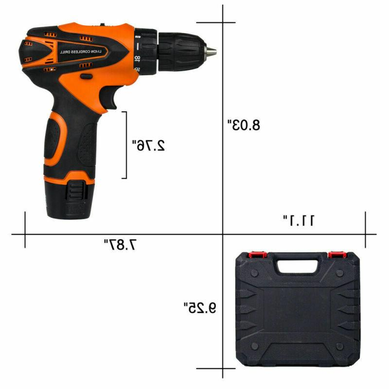 12 drill 2 Speed Electric Cordless Set &