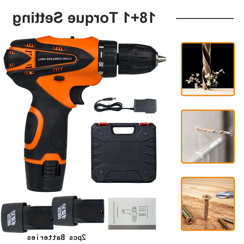 12v cordless drill electric screwdriver 3 8mini