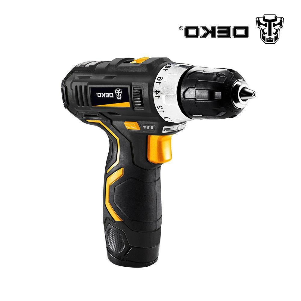 12V Lithium-Ion Battery 32N.m 2-Speed Electric Cordless Dril