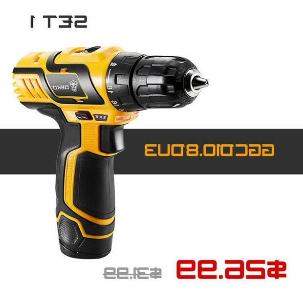 DEKO Battery 18+1 Driver Electric Cordless Drill