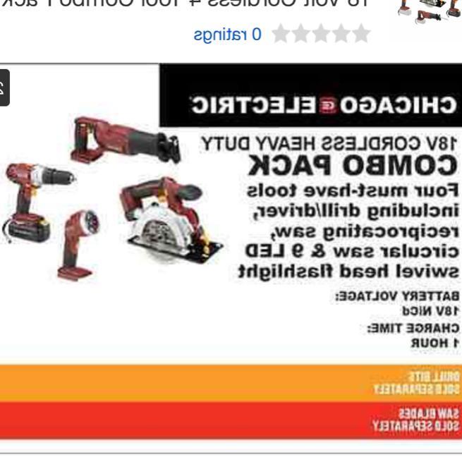 18 4 Tool Combo Pack Drill Circular Saw LED Light