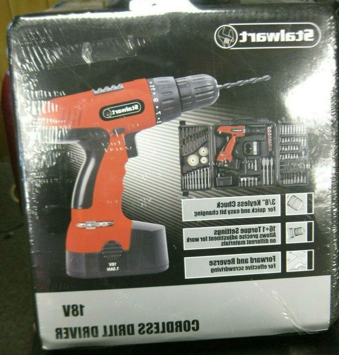 18 volt cordless drill with 89 piece