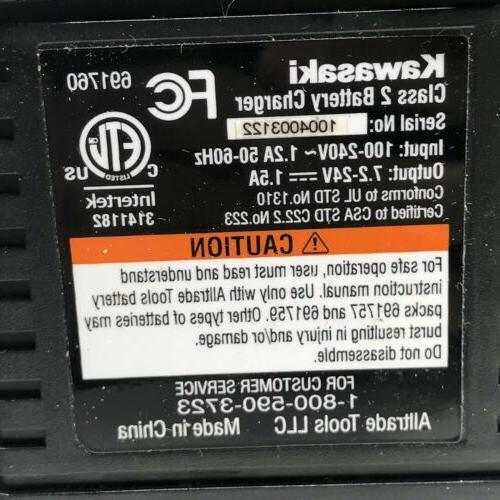 Kawasaki 18 Power Drill Driver Battery Charger & Case 691755