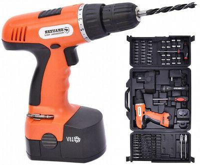 18v cordless drill driver set with 78
