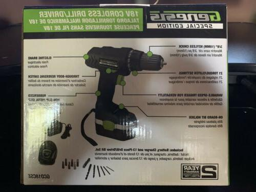 Genesis 18V Cordless Drill/Driver - edition