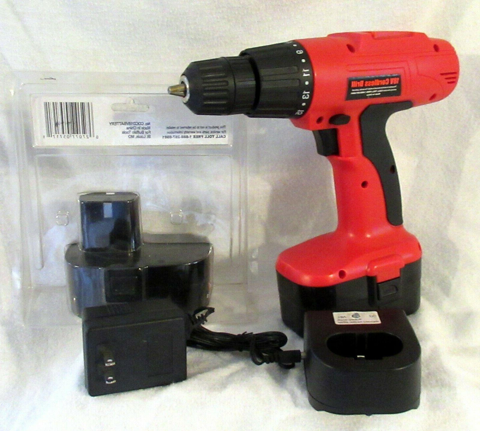 Buffalo 18V Cordless Drill, With 2 and Charger