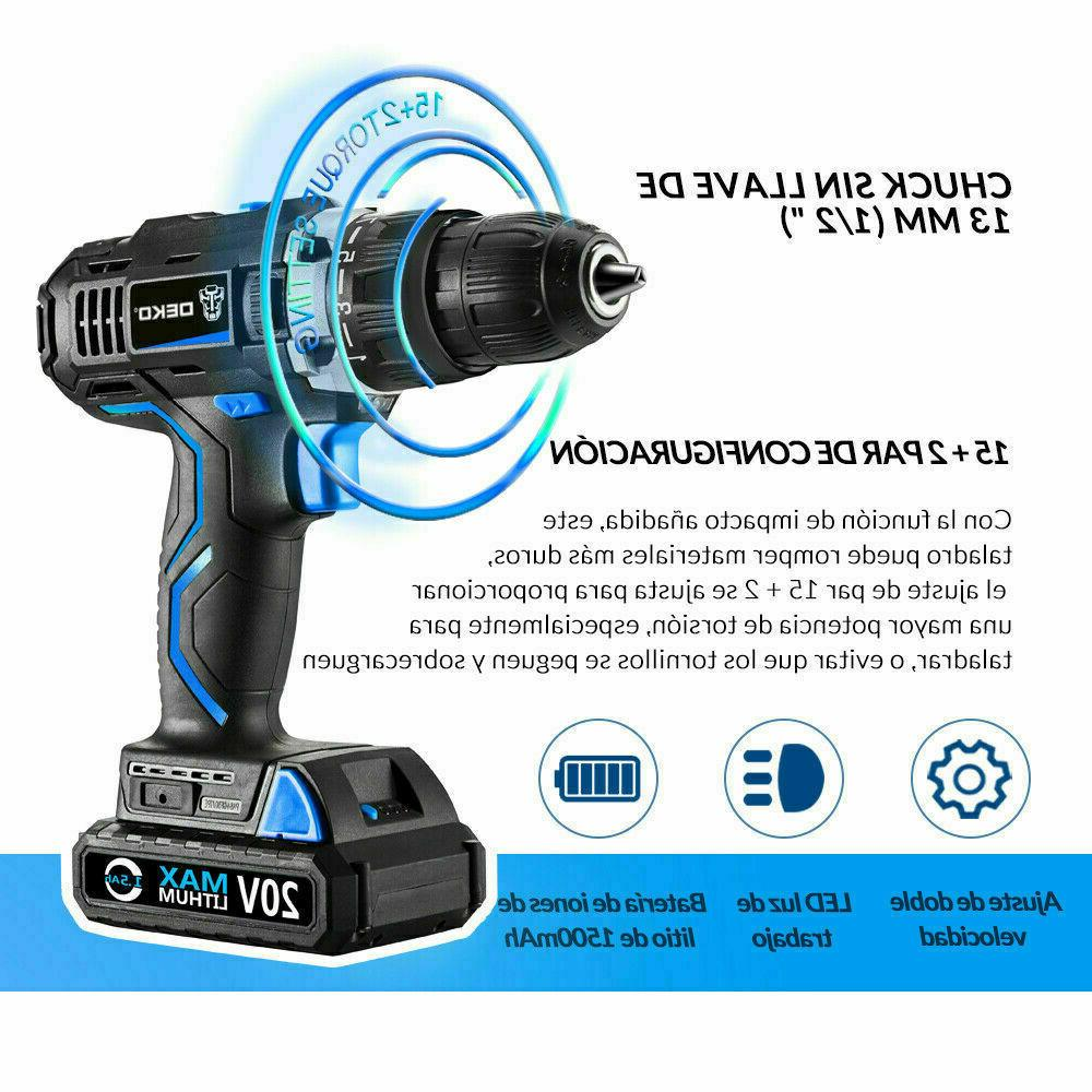 DEKO Electric Drill Max DC 13mm Impact Drill Power