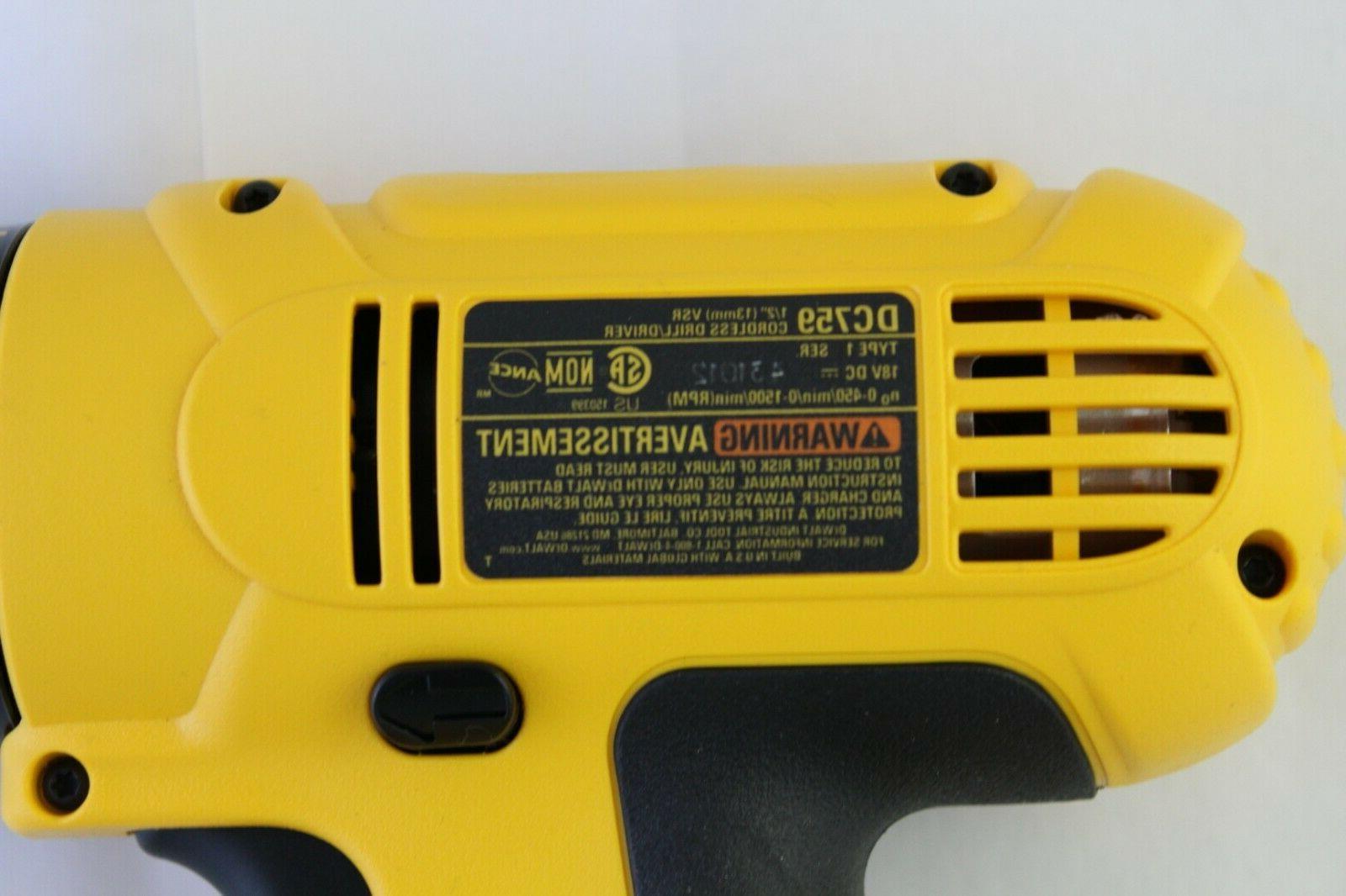 Dewalt 18V DRILL battery bare tool in