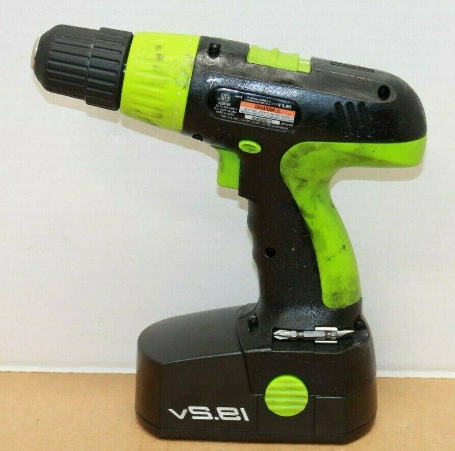 Kawasaki Cordless Drill Set Batteries Case Works