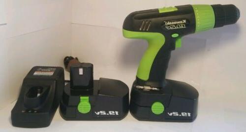 Kawasaki Drill USED Good Batteries Charger and