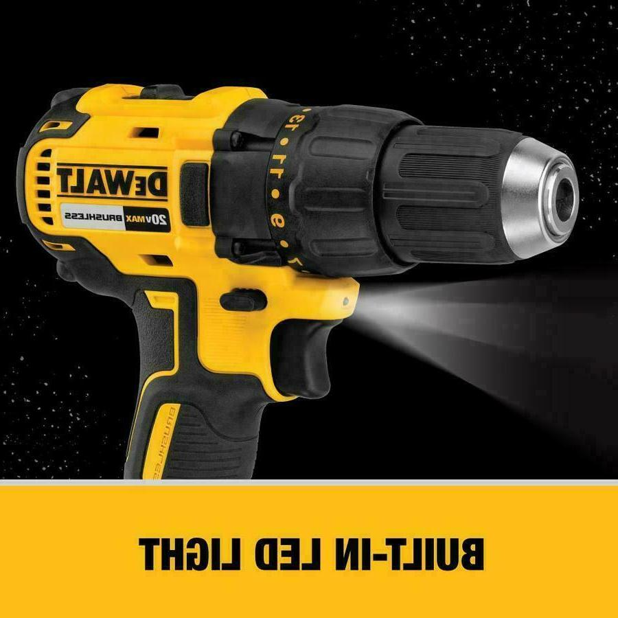 "DEWALT 1/2"" Lithium Brushless with 2 Batteries"