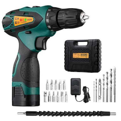 2000mAh Cordless Drill Kit Clutch 2-Speed