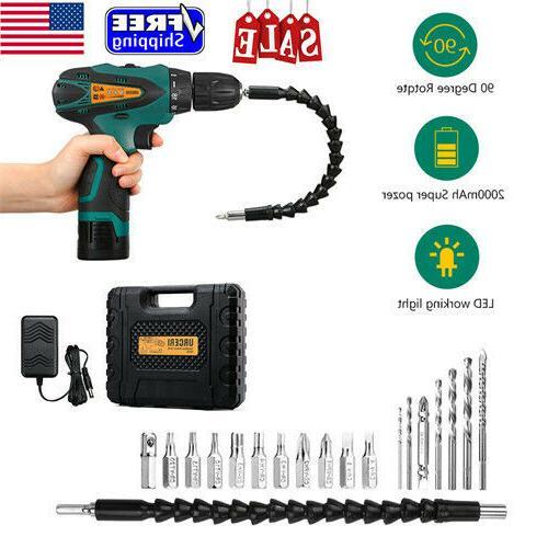 2000mah 14 4v cordless electric drill kit