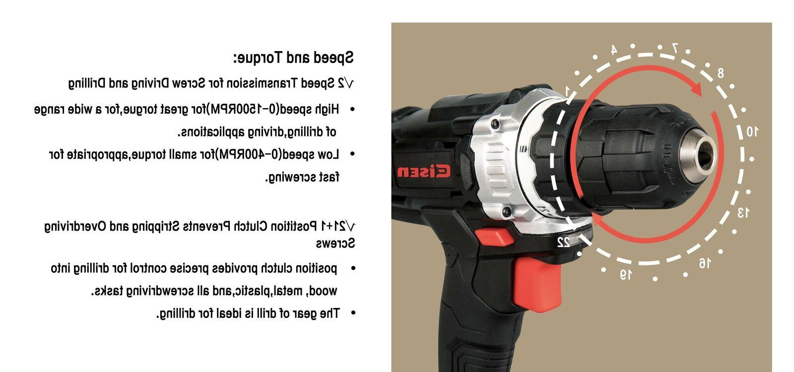 12V Cordless Drill Clutch with Worklight