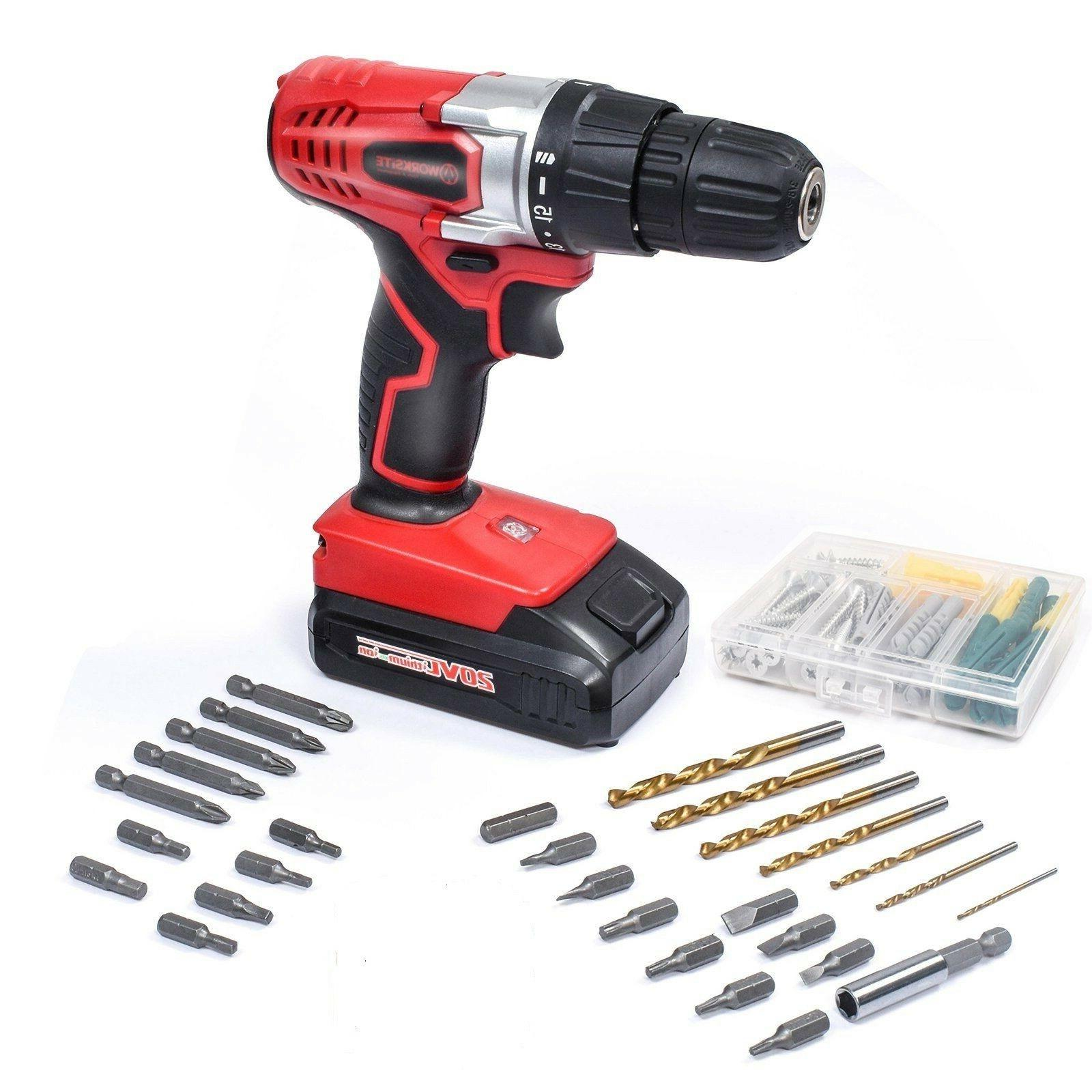 20v cordless electric drill screwdriver with 1300ma