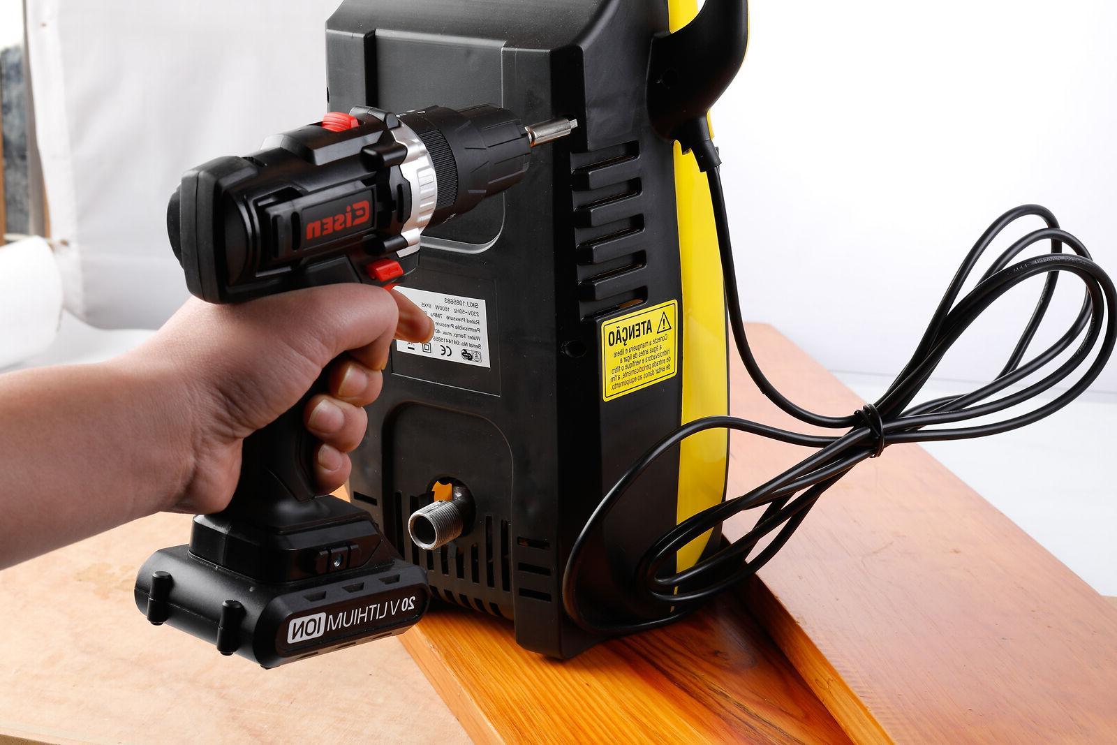 20V Cordless Impact Drill + Screwdrive Driver Tool Craftman