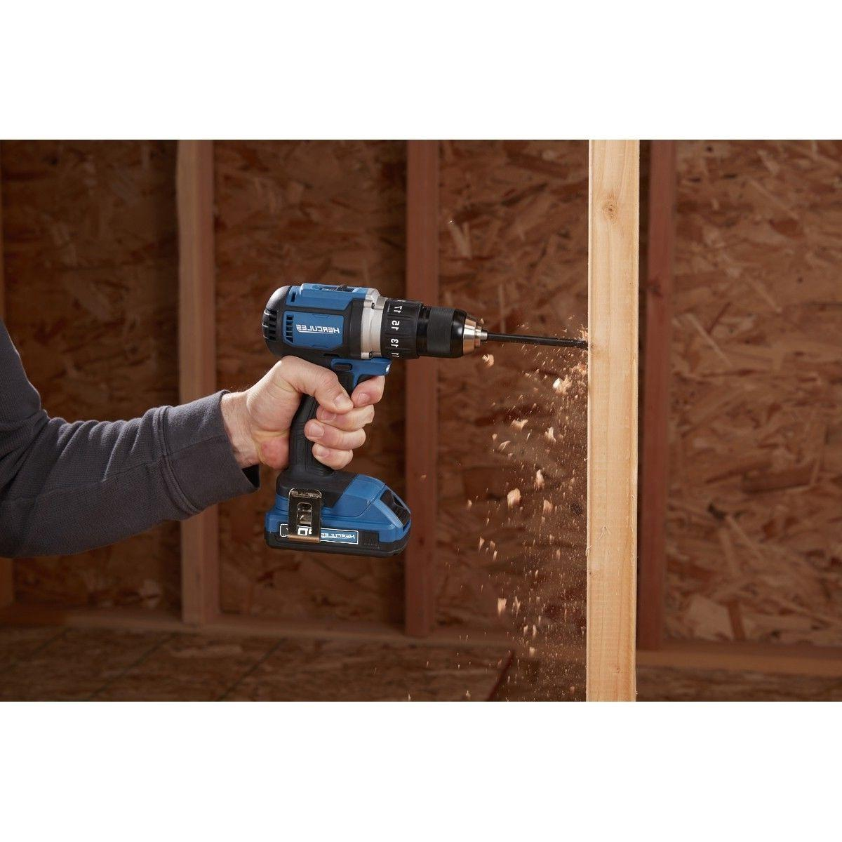 Hercules 20V Lithium Cordless 1/2 In. Compact Drill/Driver Kit