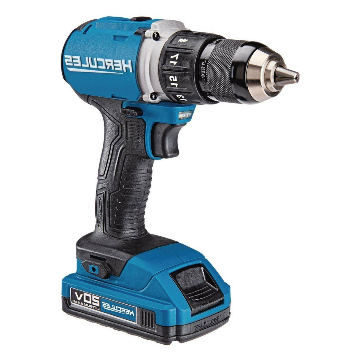 20V Lithium Ion Cordless Compact Drill/Driver Lightweight Duty Nu