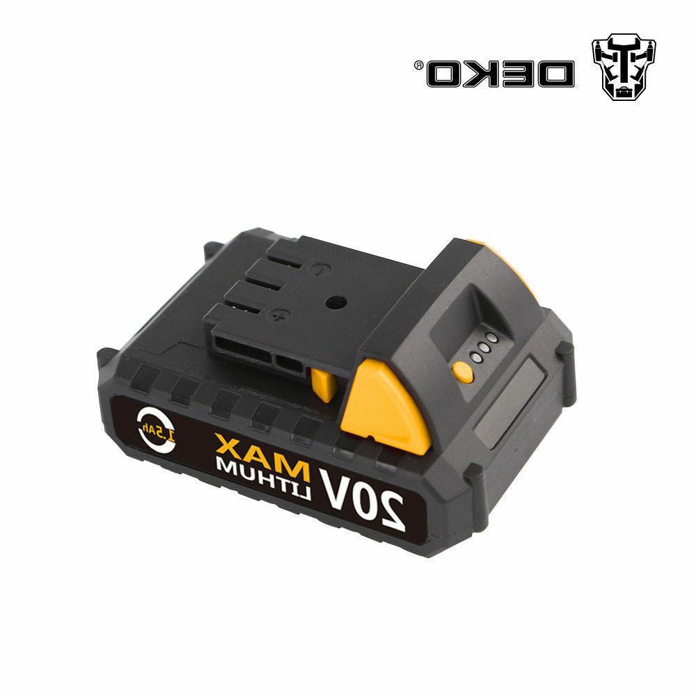 DEKO 32N.m DC Battery 2-Speed Cordless