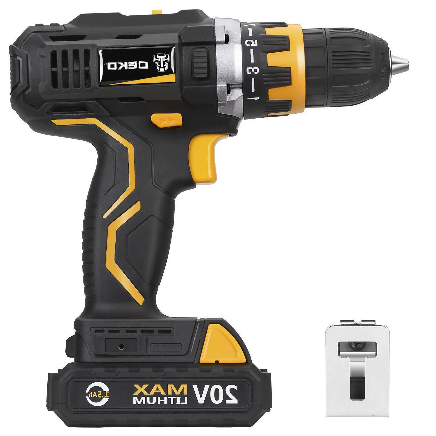 20v lithium ion cordless drill driver 1